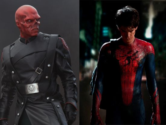 Avengers Red Skull and Spider-Man