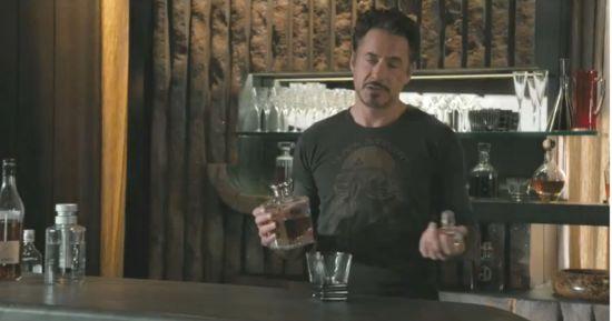 Avengers Tony Stark drinks