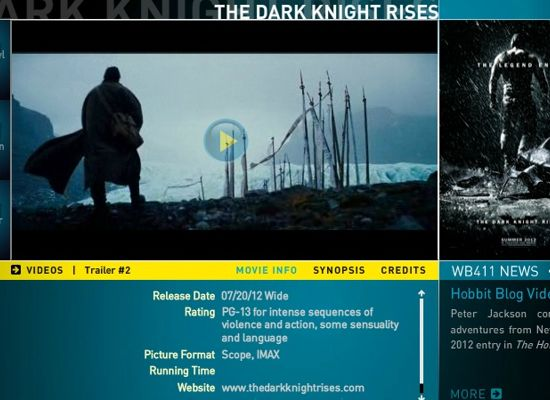 Dark Knight Rises Rated PG-13