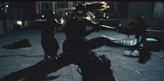 Catwoman Fighting Alongside Batman