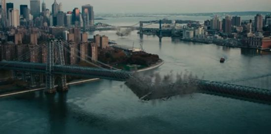 Dark Knight Rises bridges blowing up