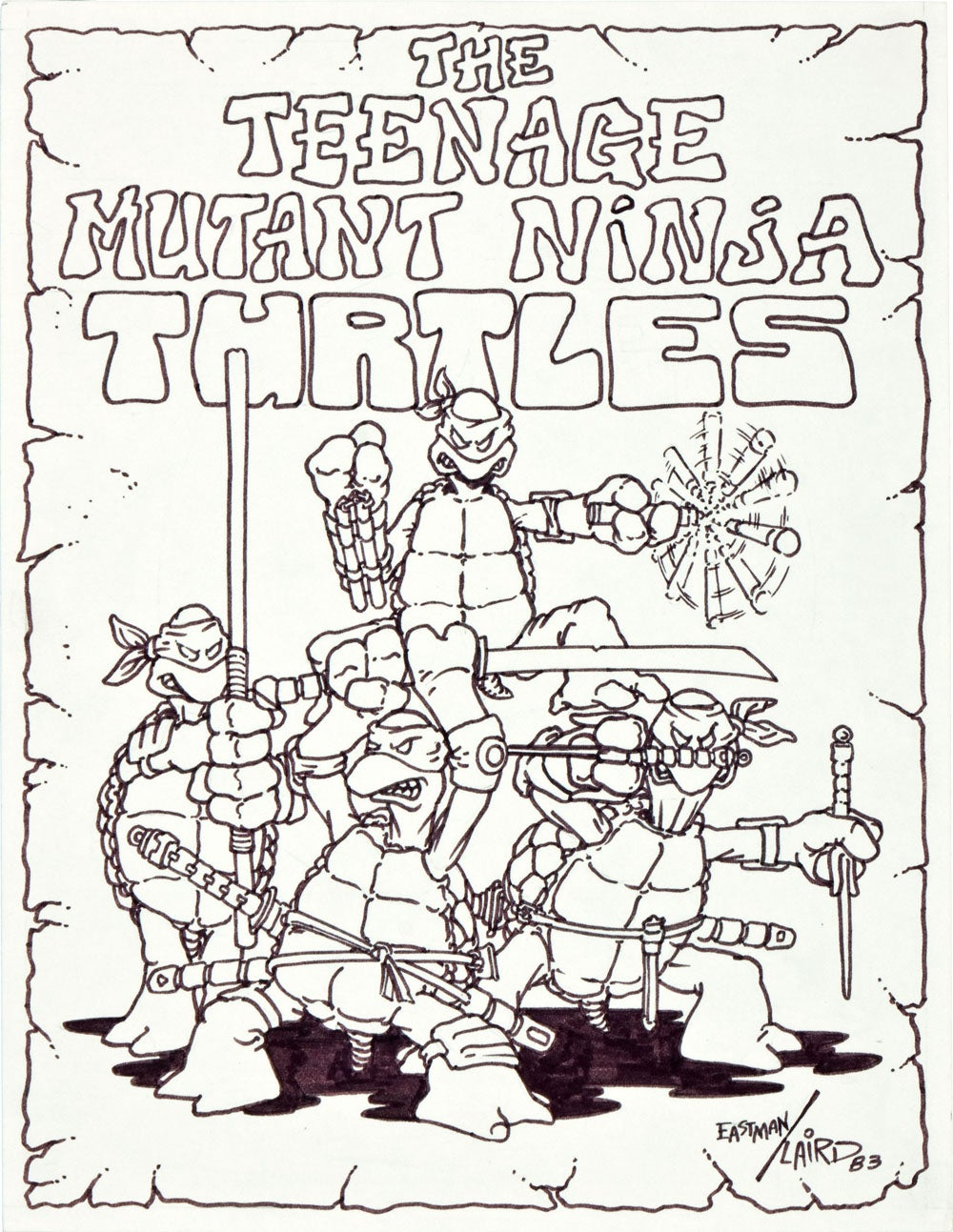 tmnt-first-drawing-original-art