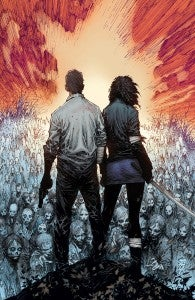 The Walking Dead #100 cover by Marc Silvestri