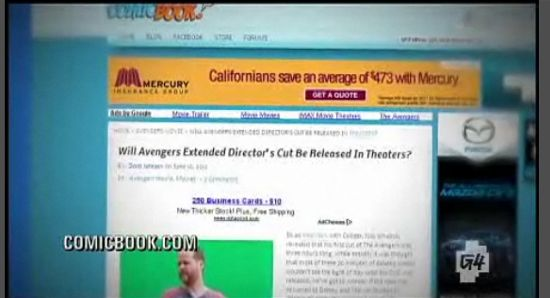 Avengers Director's Cut on G4