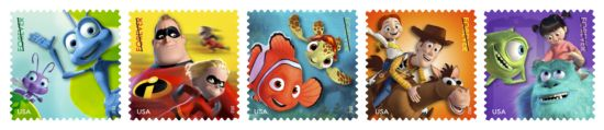 Disney Pixar Stamps