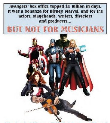The Avengers Picketed by American Federation of Musicians