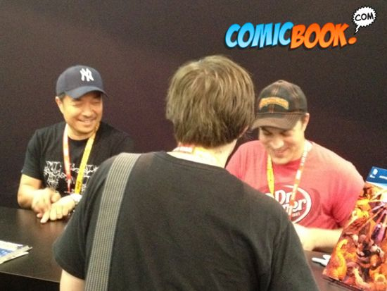 Comic-Con Geoff Johns and Jim Lee
