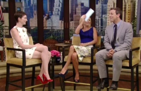 Live with Kelly Seth Myers and Anne Hathaway