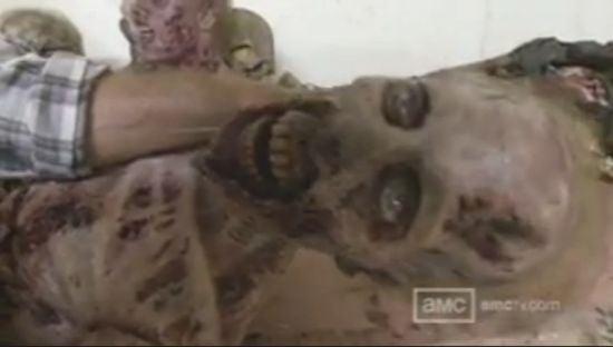 The Walking Dead Season 3 zombie