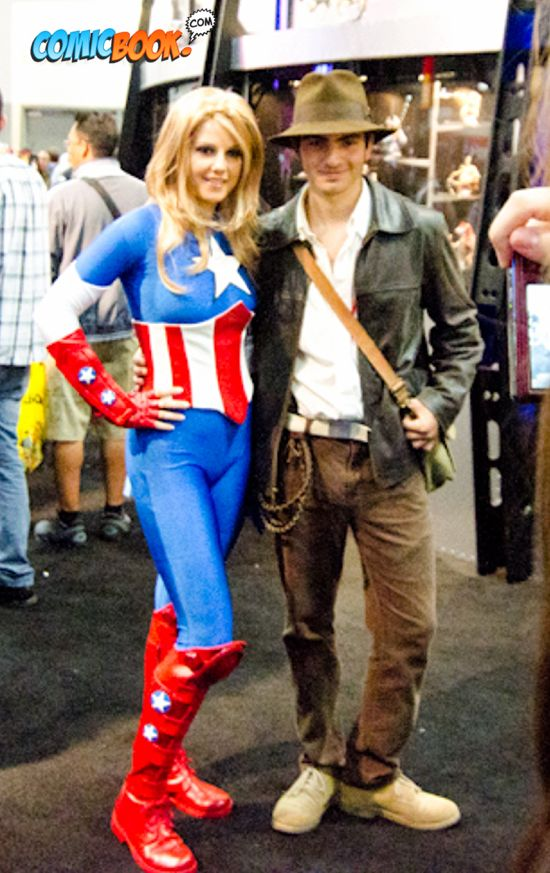 Lady Captain America and Indiana Jones Cosplay