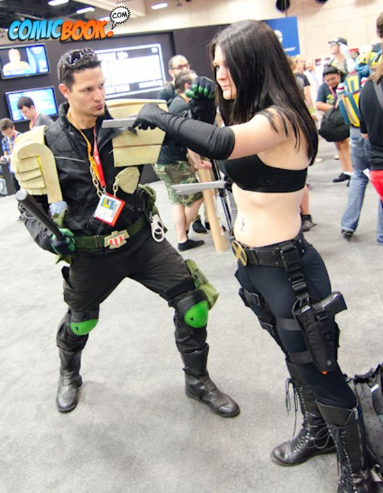 Judge Dredd and Judge Anderson Cosplay
