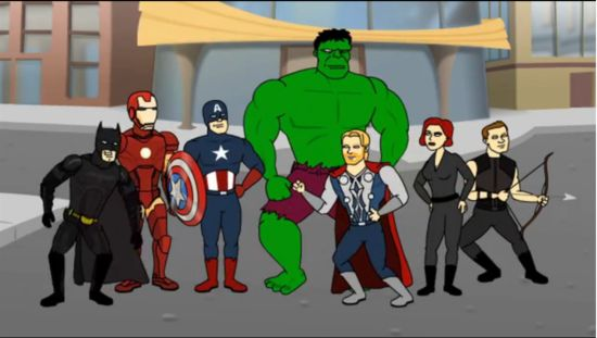 The Dark Knight Rises Meets The Avengers