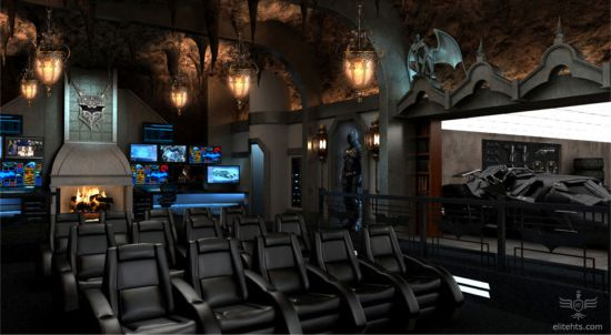 The Dark Knight Rises home theater rear view