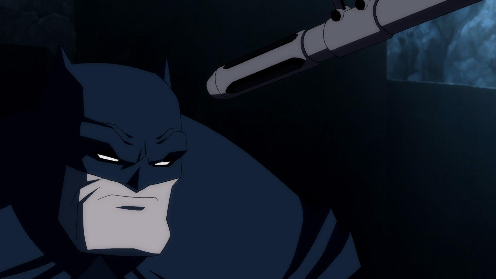 Batman at gunpoint