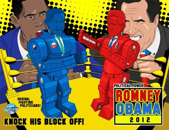 Barack Obama Fights Mitt Romney