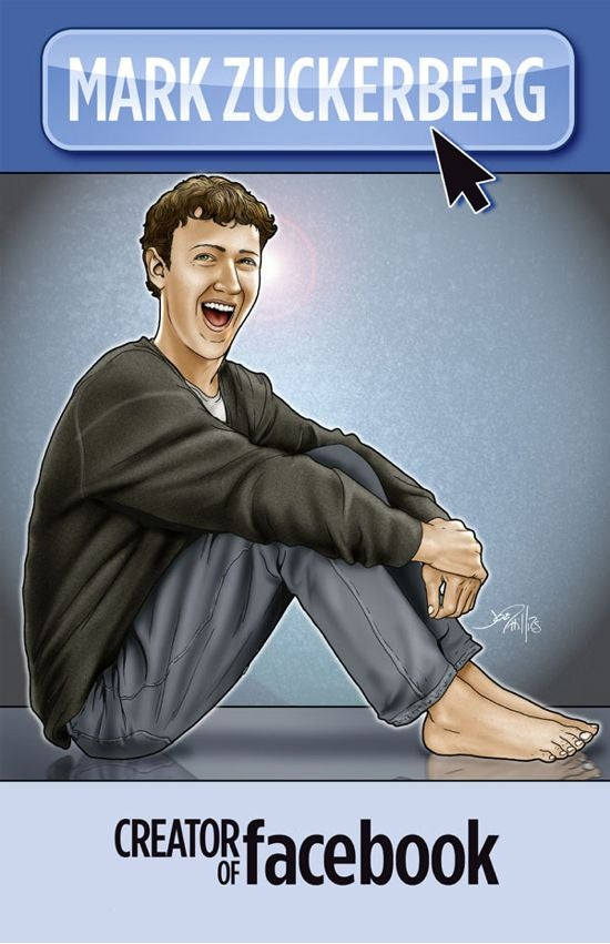 Barefoot Mark Zuckerberg Comic Book