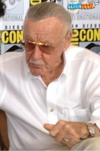 Comics icon Stan Lee speaking to reporters at San Diego Comic-Con in 2012.