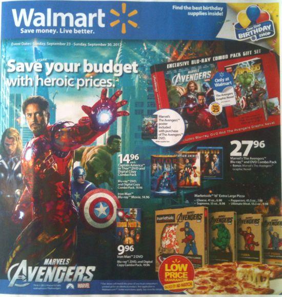 Walmart Avengers DVD Ad Cover