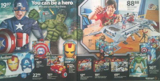 Walmart Avengers Ad Pages 2 and 3