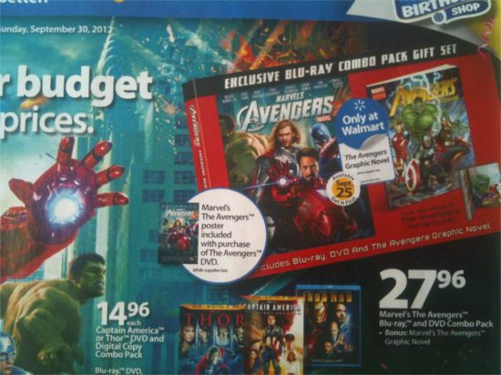 Walmart Avengers Ad DVD