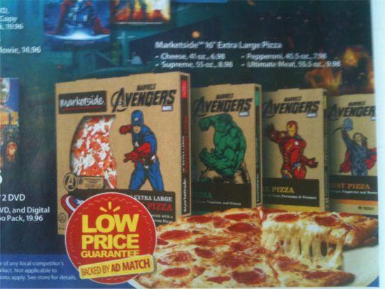 Walmart Avengers Ad Pizza