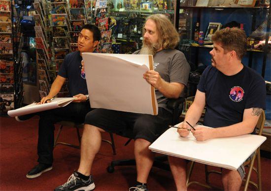 Comic Book Men 2 Drawing