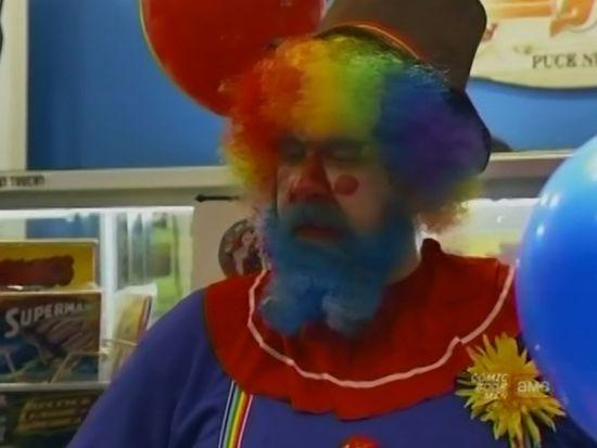 Four Color Comic Book Clown