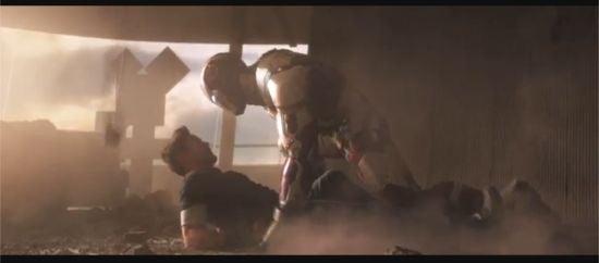 Iron Man attacks Tony Stark