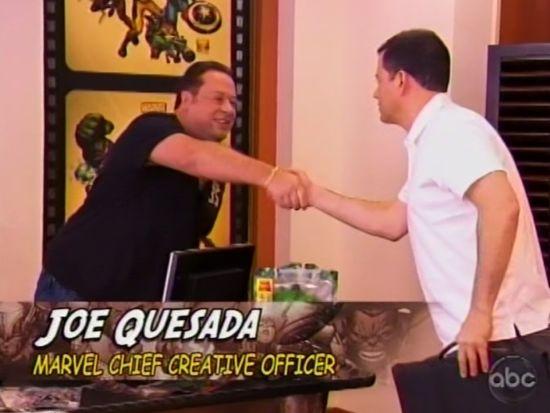 Jimmy Kimmel meets Joe Quesada