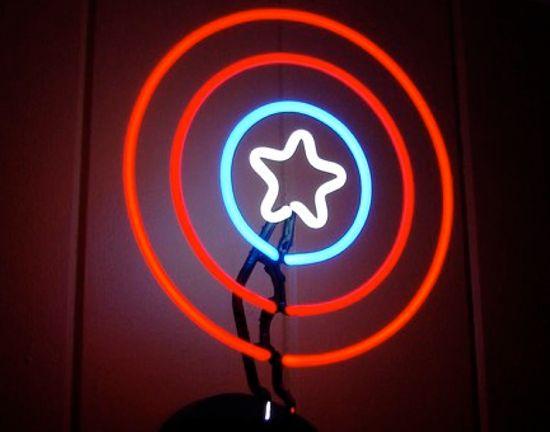 Captain America Neon Sign