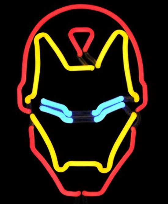 Iron Man Neon Sign