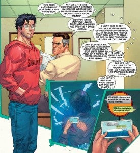 Superman spies on Lois Lane's text messages