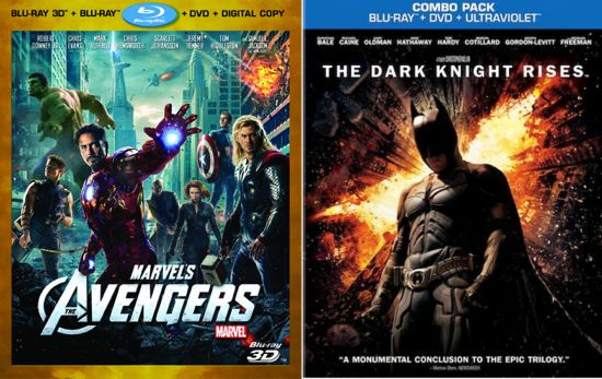 The Dark Knight Rises Vs. The Avengers DVD