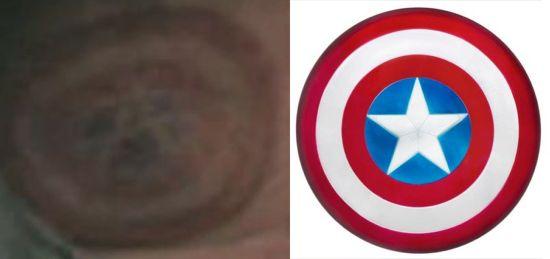The Mandarin Captain America Shield logo