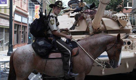 The Walking Dead horse