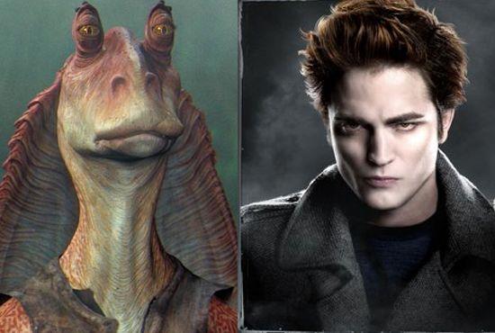 Robert Pattinson as Jar Jar Binks