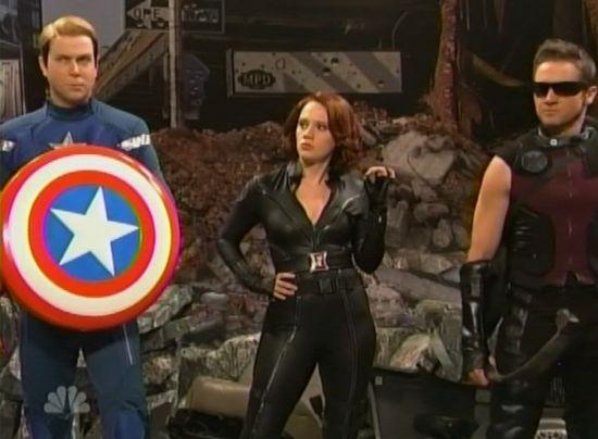 Saturday Night Live Hawkeye and Black Widow
