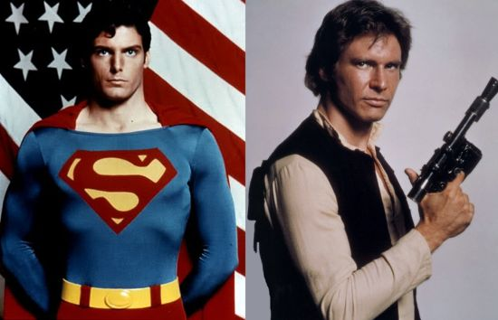 Superman and Han Solo