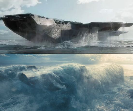 Helicarrier and the Enterprise