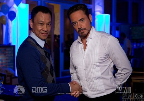 Iron Man 3 Dr. Wu and Tony Stark