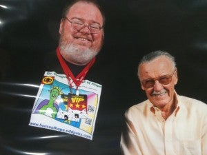Jim Lynch and Stan Lee