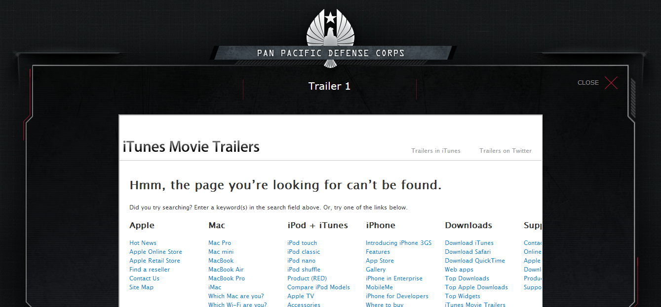 Pacific Rim Trailer Crashes on Launch