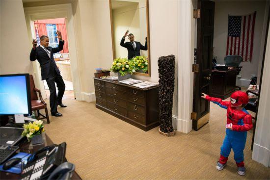 President Barack Obama & Spider-Man