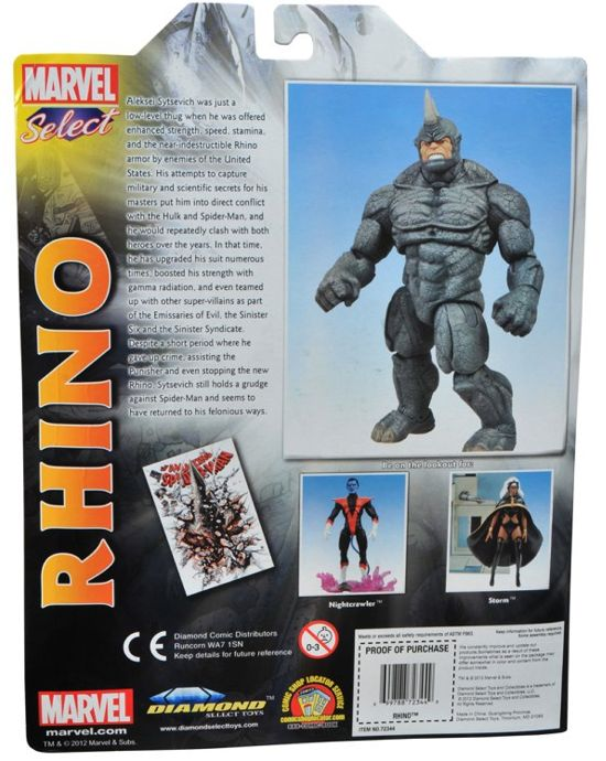 Rhino Marvel Select Back Packaging