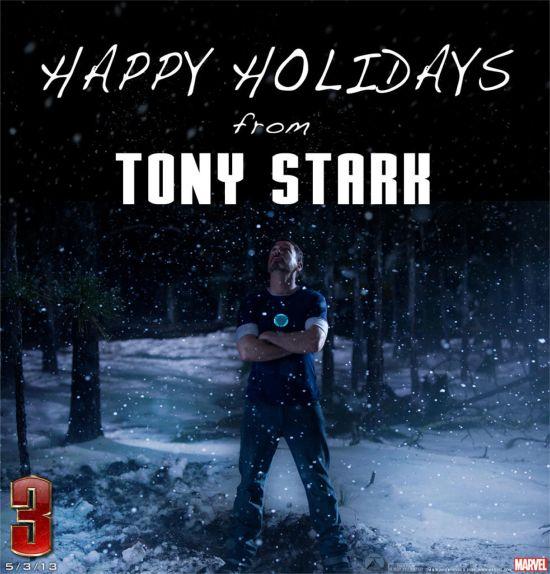 Tony Stark in the snow