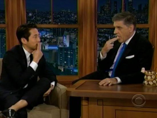 Steven Yeun and Craig Ferguson