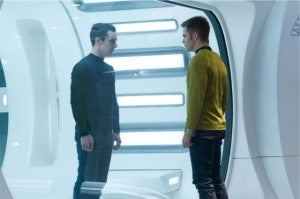 Captain Kirk And Harrison from Empire Magazine
