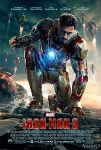 Iron Man 3 Poster multiple armors