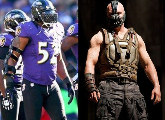 timeless design 46b1c 77833 Ray Lewis Wears Bane Mask To Super Bowl Win