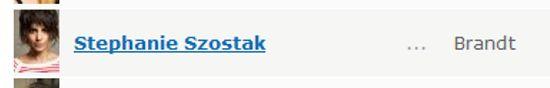 Stephanie Szostak IMDB